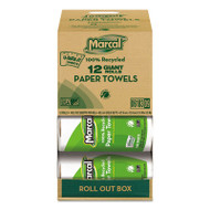 100% Recycled Roll Towels, 5 1/2 x 11, 140 Sheets, 12 Rolls/Carton