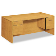10500 Series 3/4-Height Double Pedestal Desk, 72w x 36d x 29-1/2h, Harvest