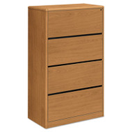10700 Series Four Drawer Lateral File, 36w x 20d x 59 1/8h, Harvest