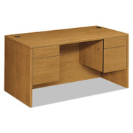 10500 Series 3/4-Height Double Pedestal Desk, 60w x 30d x 29-1/2h, Harvest