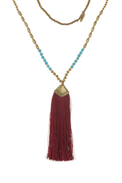 TREZO LAVI Thick Tassel w/ Blue Turquoise