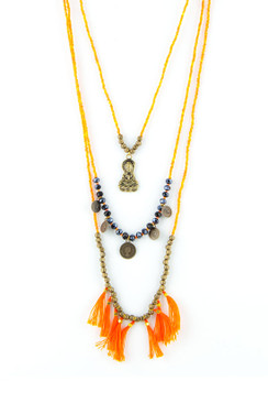 TREZO LAVI Triple Stack Buddha Necklace