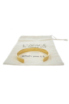 L*SPACE Gold Plated Bracelet