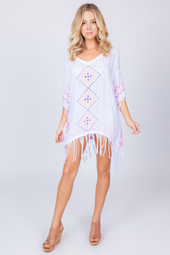 2017 TREZO LAVI Santorini Tunic in White