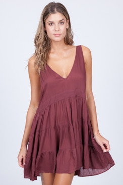 2017 ACACIA Havana Dress in Merlot