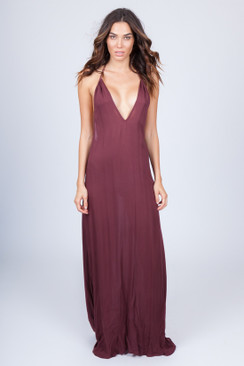 2017 ACACIA Sumba Dress in Merlot