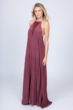 2017 ACACIA Makawao Dress in Merlot