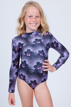 2017 ACACIA Honey Baby Ehukai Rash Guard in Modern Pacific