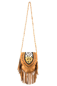 2017 TREZO LAVI Jane Bag in Tan Cheetah