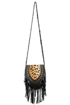 TREZO LAVI Jane Bag in Black Cheetah