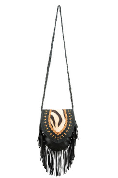 TREZO LAVI Jane Bag in Black Zebra