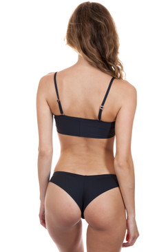 FRANKIES BIKINIS Liv Bottom in Black Embroidery