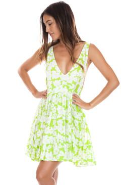 ACACIA Havana Dress in Neon Magnolia