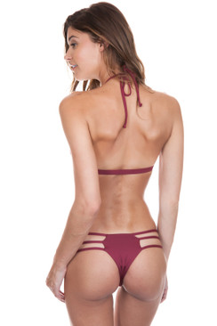 FRANKIES BIKINIS Sienna Bottom in Merlot