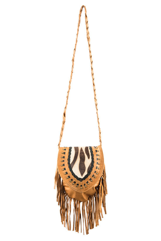 TREZO LAVI Jane Bag in Tan Zebra