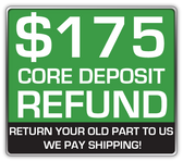 Core Deposit: THE SALES PRICE OF THIS ITEM INCLUDES A $175.00 REFUNDABLE CORE DEPOSIT. WE WILL REFUND $175.00 BACK TO YOU WHEN YOU RETURN YOUR OLD STRUTS TO US. (prepaid return label included Continental USA Only).