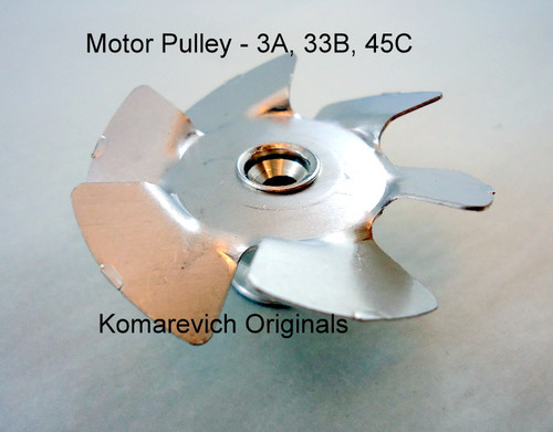 Motor Pulley with Fan for 3A, 33B, 45C Lortone Tumbler