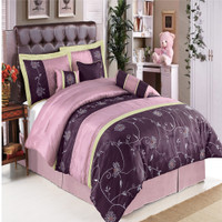 Grand Park Purple 7-Piece Comforter Set