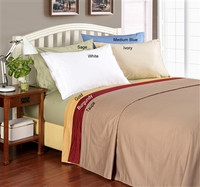 Egyptian Cotton Solid 1000 Thread Count Queen Waterbed Sheet Set