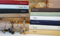Egyptian Cotton Solid 530 Thread Count Queen Sheet Set