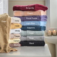 Egyptian Cotton Superior 600 GSM 6 Piece Towel Set