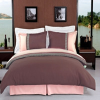 Astrid Taupe & Beige Embroidered Luxury Bedding 3-Piece Duvet Cover Sets