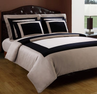 Black & Taupe Hotel Down Alternative Bed in a Bag