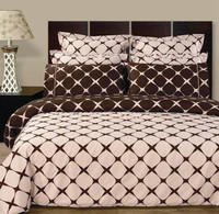 Blush & Chocolate Bloomingdale 9PC Egyptian cotton Bed in a bag