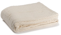 Charisma 100% Solid Cotton Weave Throw - Natural