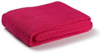 Charisma 100% Solid Cotton Weave Throw - Red