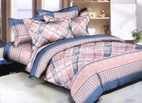 Lace Plaid Bedding Set