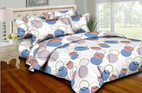 Circle &  Strings - Blue Bedding Set