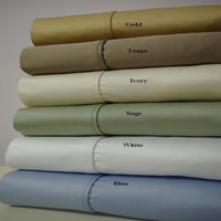 100% Combed Cotton 1000 Thread Count Solid Queen Sheet Set
