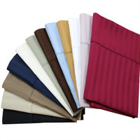 100% Combed Cotton 600 Thread Count Striped  Pillowcases