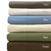 Combed Cotton 600 Thread Count Woven Dots Pillowcases