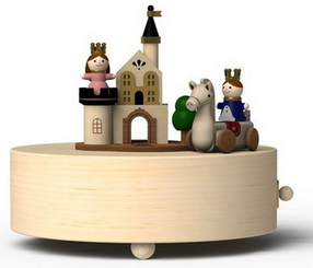 Handmade Wooden Prince Charming Music Box