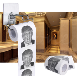 Hot!!! Donald Trump Toilet Paper Roll Novelty Funny Gag Gift Dump with Trump