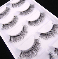 5 Pairs Natural Black Long Sparse Cross False Eyelashes