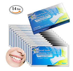 Professional Teeth Whitening Strips Bright White Express Strips Save Removes Stains Fast Teeth Whitening Kit (14 Pack)