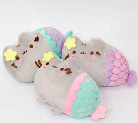 "Pusheen Mermaid 7"" Plush - Star, Spiral, & Clam Series"