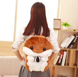 Cute Kawaii Japanese Hamster Plush Toy Backpack