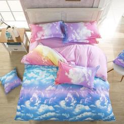 Pastel Clouds Bedding Set