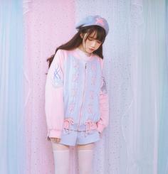 Lolita Girls Sweet Harajuku Baby Pink Mermaid Ocean Wind Jackets