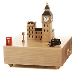 Handmade Wooden London Big Ben Music Box