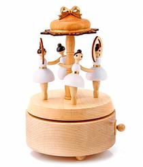 Handmade Wooden Ballerina Music Box