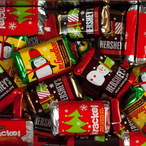 Hershey Miniature Chocolate Bars - Christmas