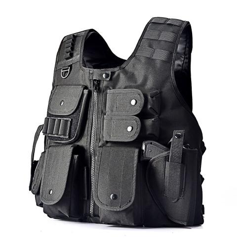 Tactical Vest Law Enforcement Airsoft Paintball Armor Jacket BK