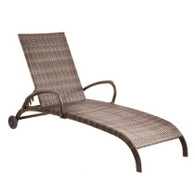 Tutto Chaise Aluminum Frame Everwoven All-Weather Wicker Double Mocha