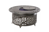"Bellagio 48"" Round Gas Burning Fire Pit Cast Aluminum Table Blacksmith"