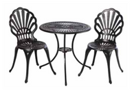 Bay View 26R-2 Bistro Set Glossy Black